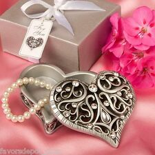 12 Heart Shaped Curio Box Gift Wedding Favor Bridal Shower Favors Party Favor