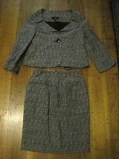 CUE BLAZER SKIRT SUIT SIZE 6 LINEN BLEND MADE IN AUSTRALIA WORK CORPORATE AUST