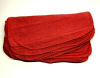 "Red Shop Towels Grease Rags 12 Count Prewashed Reusable 12"" x 14"" Cotton Blend"