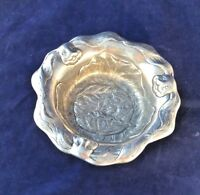 PELTRINA PEWTER SMALL BOWL FOR EASTER OR SPRING  RABBITS & CABBAGE DESIGN LOVELY
