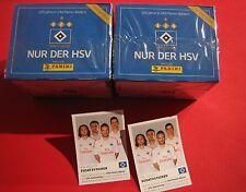 Panini HSV Hamburg 125 Jahre 2 x Display + 2 Zusatzsticker 100 Tüten 500 Sticker