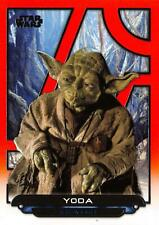 Star Wars Galactic Files (2018) ORANGE PARALLEL BASE Card ROTJ-24 / YODA
