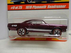 Hot Wheels 1970 PLYMOUTH ROADRUNNER Purple '70 Redline CLASSICS Series 1 #9