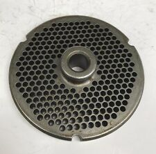 """Used Kasco Powermate 32 Hubbed Meat Grinder Plate 9/64"""" holes, Free Shipping"""