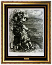 Marc Chagall Original The Lion In Love Hand Signed Etching Modern Framed Artwork