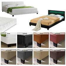 CORIUM® LED Polsterbett 140 160 180 x 200cm Kunst-Leder Doppel Bett mit Matratze