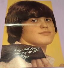Donny Osmond Centerfold Clipping Poster From Magazine 70'S Cute Osmonds