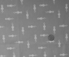 GREY WITH A DESIGN OF TREE LEAF SEED PODS IN ECRU- LINEN LOOK COTTON FABRIC F.Q.