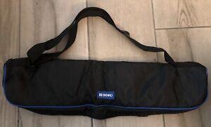 "Benro Tripod Carry Zip Case Padded Protective Shoulder Bag Black Blue 24"" L NEW"