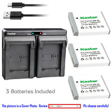 Kastar Battery Slim Dual Charger for Canon NB-6L& Canon PowerShot ELPH 500 HS