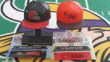 NFL Mad Lids Series 1 & 2 Cleveland Browns 2-pack (2 mini caps/stands/stickers)
