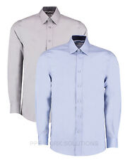 Kustom Kit Men's Long Sleeve Contrast Premium Oxford Shirt Tailored Fit (KK189)