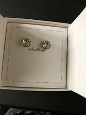 STELLA AND DOT BN EARRINGS VINTAGE CRYSTAL STUDS LOVELY!