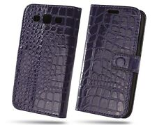 Crocodile PU Wallet Leather Case Cover Stand F Samsung Galaxy S 3 III S3 Purple