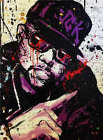 Alec Monopoly Print on Canvas graffiti art wall decor Rapper portrait 28x36""