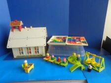 VINTAGE FISHER PRICE LITTLE PEOPLE SCHOOLHOUSE & ACCESSORIES- 1970s