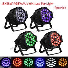 18x18w 6in1 led par light RGBWA UV par led light dj party wedding par light 4pcs