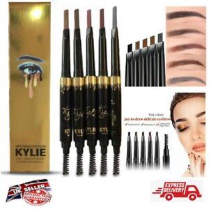 Kylie Jenner 2in1 Waterproof Long Lasting Eyebrow Pencil Brow Definer Gold BNIB