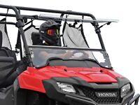 SuperATV Scratch Resistant Flip Windshield for Honda Pioneer 700 / 700 4 (2014+)