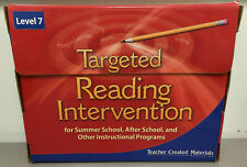 Teacher Created Materials Targeted Reading Intervention Level 7 Kit Home/School