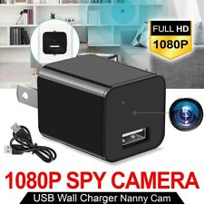 HD 1080P Mini Hidden Camera USB AC Charger Adapter Security Camcorder Video Cam