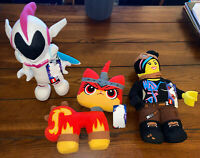 The LEGO Movie 2 - Lucy / Sweet Mayhem / Angry Cat Plush - 3 Characters - NEW