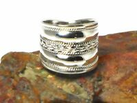 Chunky  STERLING  SILVER  925  Ring  -  Size: S
