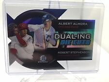 2014 Bowman Chrome Dualing Die Cut #DDC-AS Albert Almora/Robert Stephenson