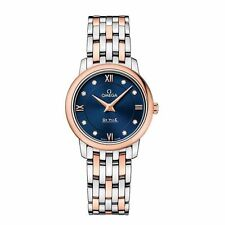 Quartz (Battery) Solid Gold Strap Round OMEGA Wristwatches