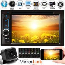 HD Car Stereo Radio Player Bluetooth USB FM Radio Mirror For GPS In Dash 2Din