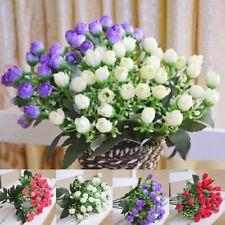36 Heads Artificial Fake Flower Plastic Bouquet Outdoor Plants Garden Home Decor