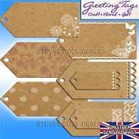 JAM JAR LABELS GREETING TAGS BROWN NATURAL CARD CRAFT PARCEL WEDDING FAVOUR NAME