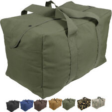 Canvas Cargo Bag Tactical Heavy Duty Cotton Large Military Parachute Duffle