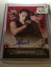 2010 Leaf MMA Autographs Red #AUSK2 Sarah Kaufman