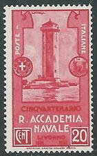 1931 REGNO REGIA ACCADEMIA NAVALE 20 CENT MNH ** - CZ20-5