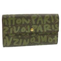 LOUIS VUITTON Monogram Graffiti Porte Monnaie Credit Wallet M92188 Auth 14117