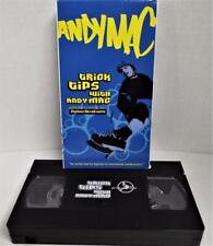 Ollies Skate Parks Trick Tips with Andy Mac VHS skateboarders EXCLUSIVE tape