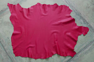 bright red leather goat hide goatskin 6.9 sqft for bookbinding & other crafts G7