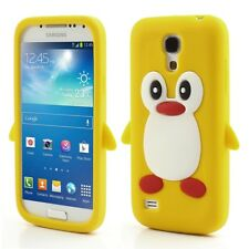 Samsung Galaxy S4 Mini Soft Silikon Case Pinguin Cute 3D Jelly Hülle Cover Gelb