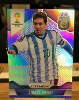 2014 PANINI PRIZM WORLD CUP Silver Refractor LIONEL MESSI #12 ARGENTINA  🔥