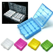 5 x pcs Rechargeable Batteries Plastic Case Holder Storage Box Cover for AA /AAA