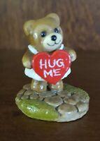 """RETIRED Wee Forest Folk 1986 T-8 Huggy Bear """"Hug Me"""" Signed """"DP"""""""