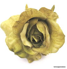 """3"""" Olive Poly Silk Rose Flower Hair Clip,Wedding,Prom,Dance,Bridal,Party"""