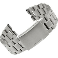 Stainless Steel Bracelet Watch Band Strap Straight End Solid Links 24mm Excellen