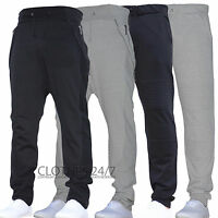 New Mens Joggers Skinny Drop Crotch Cuffed Jogging Pants Tracksuit Bottoms Biker