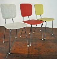 Vintage Stuhl Stahlrohr Esszimmerstuhl Küchenstuhl Mid-Century Retro 50er 1/3