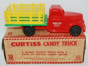 Vintage New Old Stock -1960's MARX Curtiss Candy Plastic Toy Truck - Near MIB