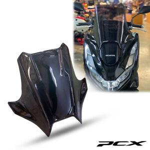FOR HONDA PCX 160 2021-2022 TINT BLACK WINDSHIELD WINDSCREEN VISOR GUARD FRAME