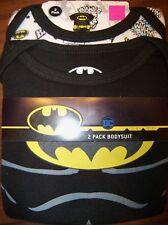 Batman Dc Comics 2 Pack One Piece Bodysuit Infant Baby Boy Size 12 Months Nip