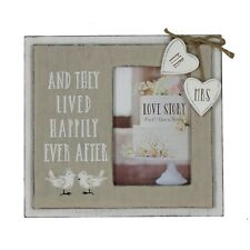 Love Story Wooden Frame Happily Ever After 4x 6